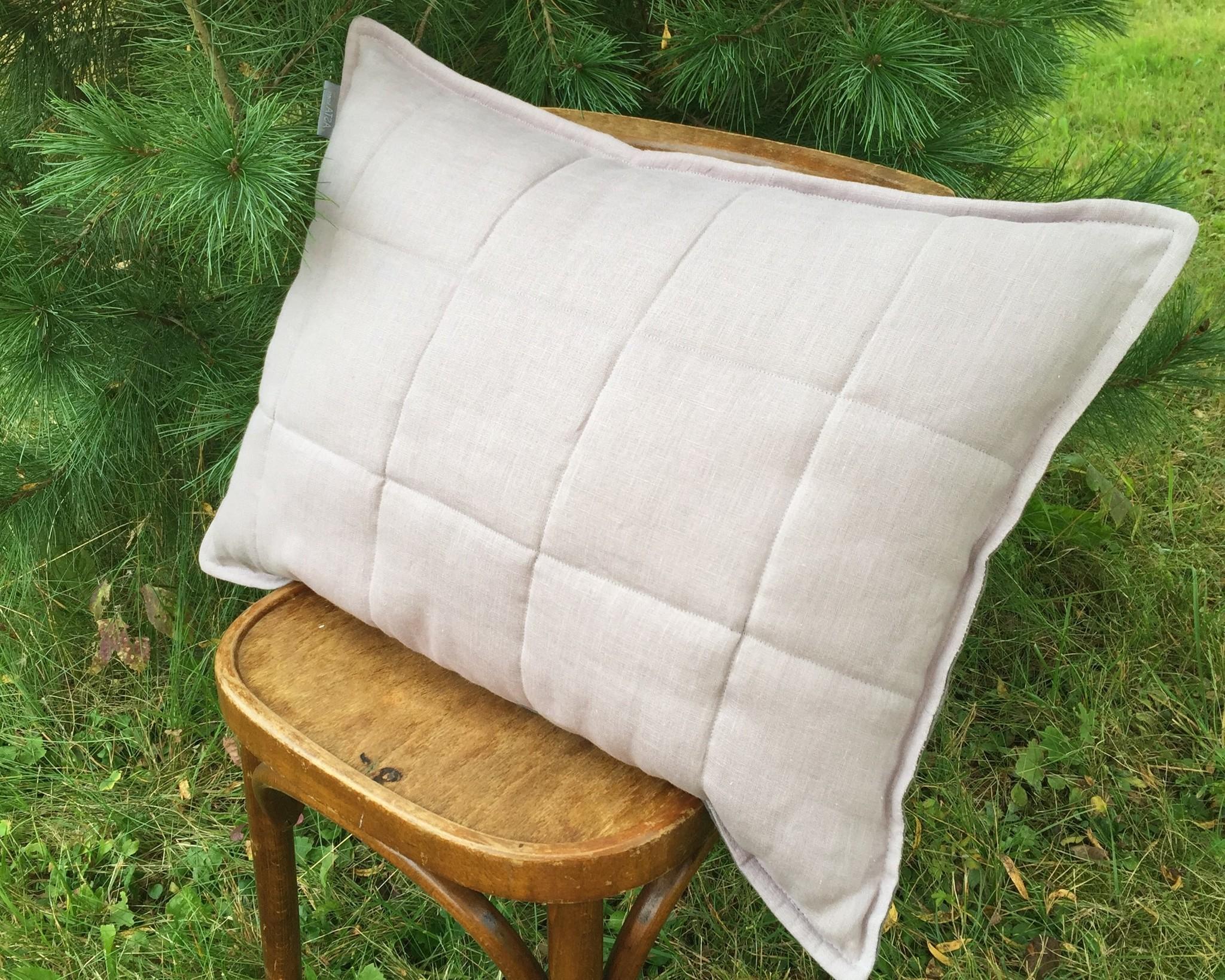 Подушка базовая с льняным наполнителем и чехлом из 100% льна