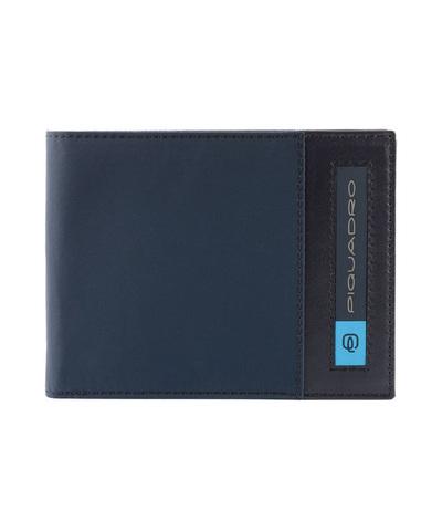 Кошелек Piquadro Bios, синий, 12,5x9x2 см