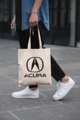 Мужская сумка-шоппер с принтом Акура (Acura) бежевая 002