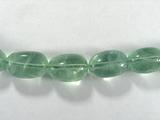 Бусина из флюорита зеленого, фигурная, 15x11 мм (овал, галтовка)