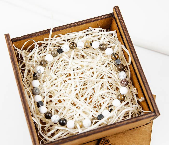 BS823 Ярий мужской браслет из разных натуральных камней фото 02