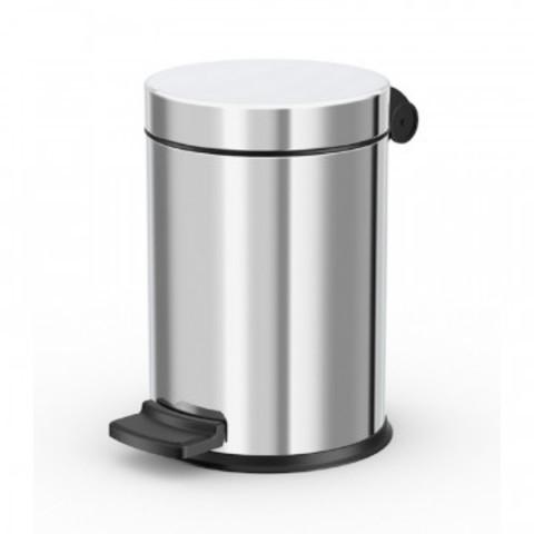 Ведро для мусора с педалью Hailo ProfiLine 4 л нержавеющая сталь хром (18х27 см)