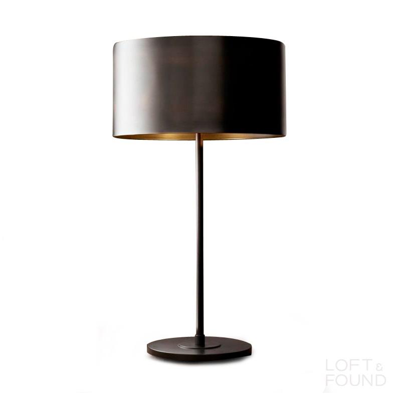 Настольная лампа Antiqued Metal Drum Table Lamp