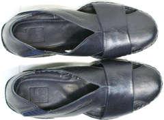 Стильные мужские мокасины сандали закрытые Luciano Bellini 76389 Blue.