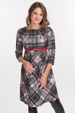 Платье для беременных 09464 клетка