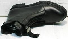 Осенние весенние ботинки черные женские Tina Shoes 292-01 Black.