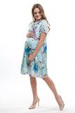 Платье для беременных и кормящих 09599 голубой
