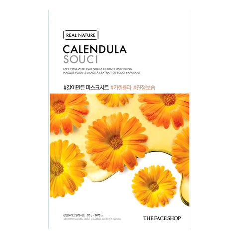 Тканевая маска с календулой THE FACE SHOP Real Nature Calendula Face Mask