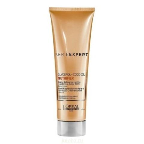 L'Oreal Professionnel Nutrifier: Термо-защитный крем для сухих волос (Blow-Dry Cream), 150мл