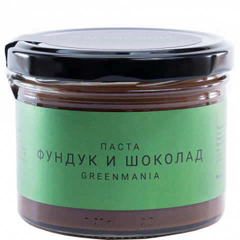 Паста GreenMania фундук и шоколад 200 г
