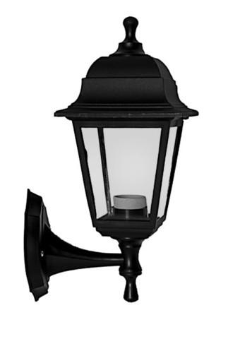 Светильник садово-парковый Basis бра вверх/вниз 380мм черный