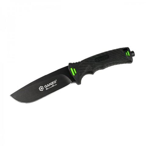 Нож Ganzo G8012 черный, с чехлом