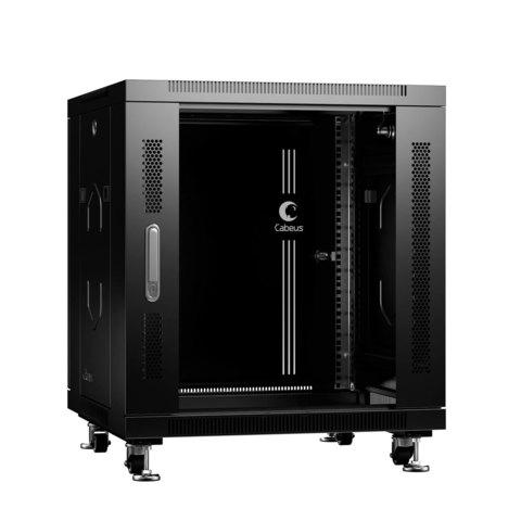 Шкаф напольный 19-дюймовый, 12U SH-05C-12U60/80-BK (8570c)