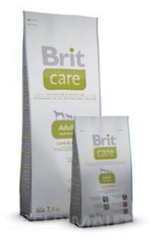 2462 Brit Care Adult Small Breed д/взрослых собак Мелких пород, ягненок с рисом 7,5кг