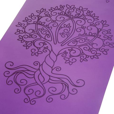 Каучуковый йога коврик Tree of Life с разметкой 185*68*0,4 см нескользящий