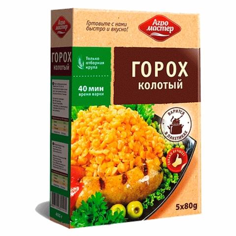 Горох колотый АГРОМАСТЕР 400 гр пак РОССИЯ