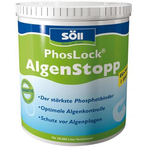 Удаление фосфатов в пруду Soll PhosLock Algenstopp 1Kg