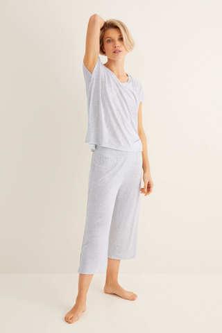 Довга піжама зі штанами капрі