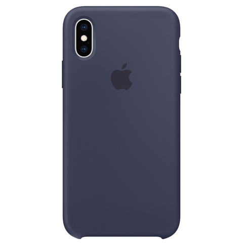 iPhone XS Silicone Case Midnight Blue