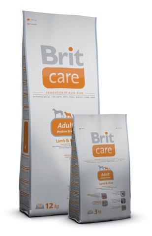 2486 Brit Care Adult Medium Breed д/взрослых собак Средних пород Ягненок с рисом 12кг