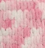Пряжа Alize Puffy Color розово-белый 5863