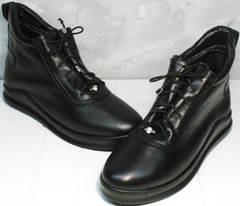 Женские ботинки натуральная кожа Evromoda 375-1019 SA Black
