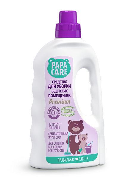 Papa Care - Средство для мытья поверхностей в детской комнате с антибактериальным действием, 1000 мл.