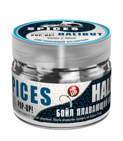 Бойлы насад. плав. двух цв. Sonik Baits SPICES-HALIBUT Fluo Pop-ups 14мм 90мл