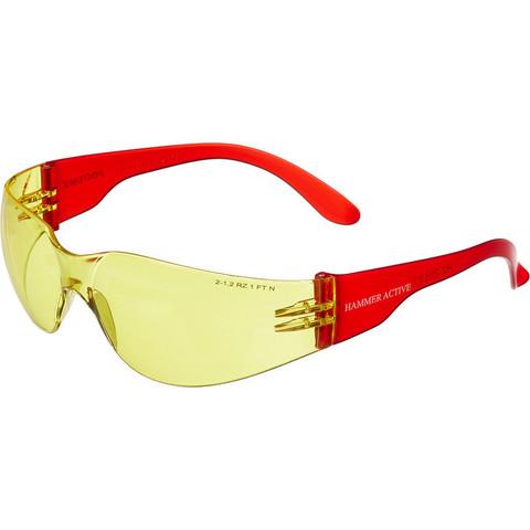Очки защитные открытые универсальные РОСОМЗ О15 Hammer Active contrast желтые (11536)