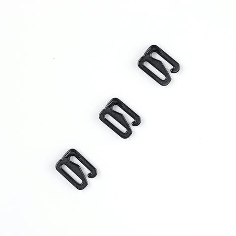 Крючок для бретели черный матовый 10 мм