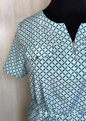 Джемма. Блуза великих розмірів з пояском, короткий рукав. М'ята