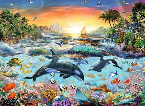 Puzzle Orca Paradise 200 pcs