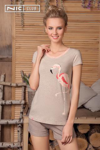 Nic Club Комплект:футболка и шорты бежевый buongiorno-1701
