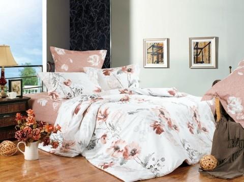 Сатиновое постельное бельё  1,5 спальное Сайлид  В-109