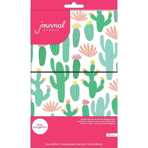Блокнот (тревелбук) - American Crafts Journal Studio Kit  - 14х22 см -  Cactus By Amy Tangerine