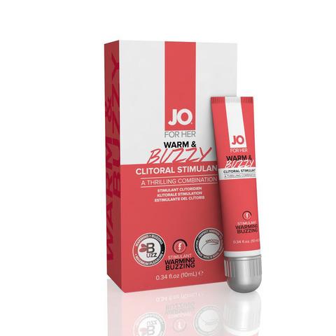 JO FOR HER WARM & BUZZY, 10 ml Клиторальный гель с контрастом температур и вибрацией