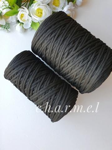 Чёрный Полиэфирный шнур 4 мм