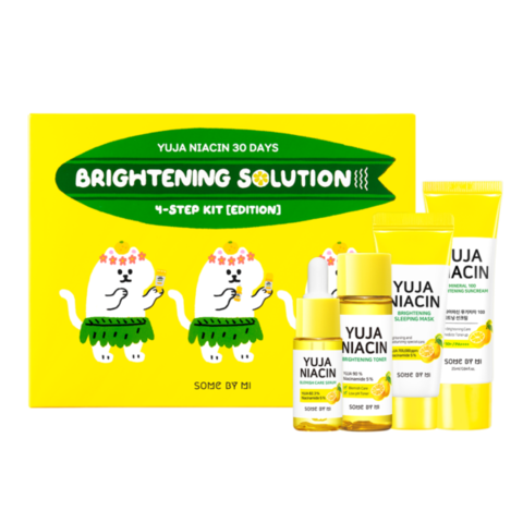 The Saem 30DAYS Набор с юдзу для осветления кожи YUJA NIACIN 30DAYS BRIGHTNING SOLUTION 4 STEP KIT 30мл/30мл/25мл/10мл
