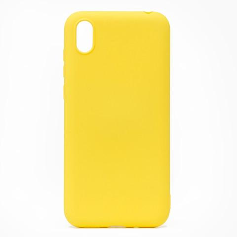 Чехол для Huawei Honor 8S/8S Prime/Y5 2019 Софт Тач мягкий эффект с микрофиброй | желтый