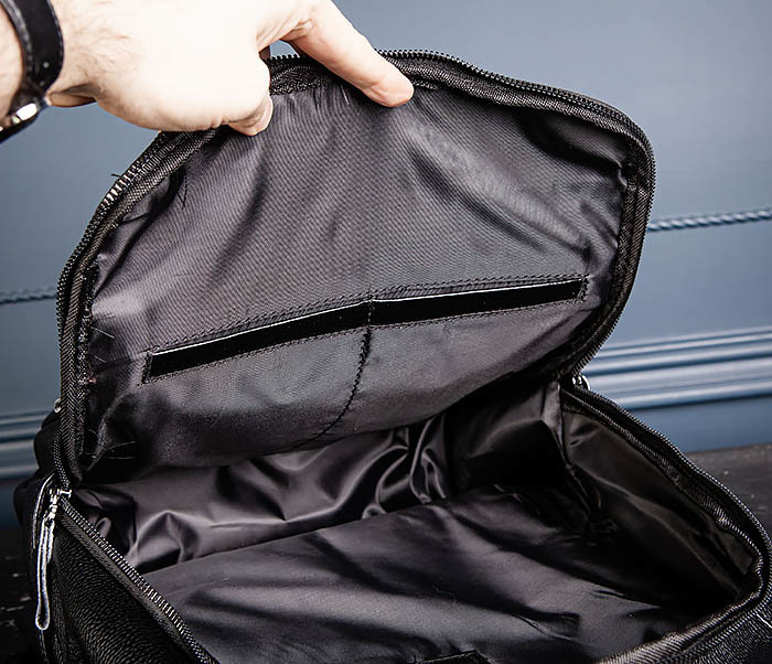 BAG530-1 Большой кожаный рюкзак черного цвета фото 14