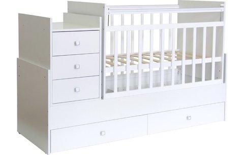 Кроватка детская Фея 1200 белый