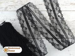 Кружево ажурное Адель черное 40 мм