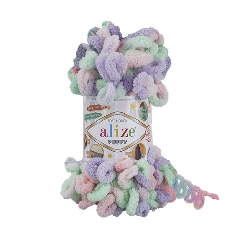 Пряжа Alize Puffy Color цвет 5938