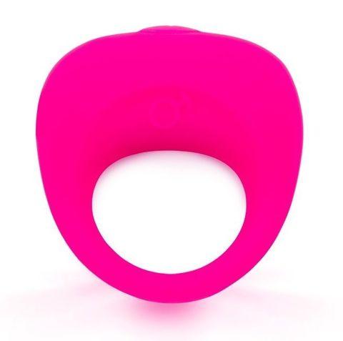 Розовое эрекционное кольцо с вибрацией