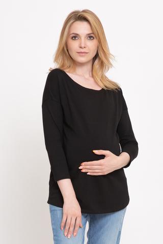 Лонгслив для беременных 11918 черный