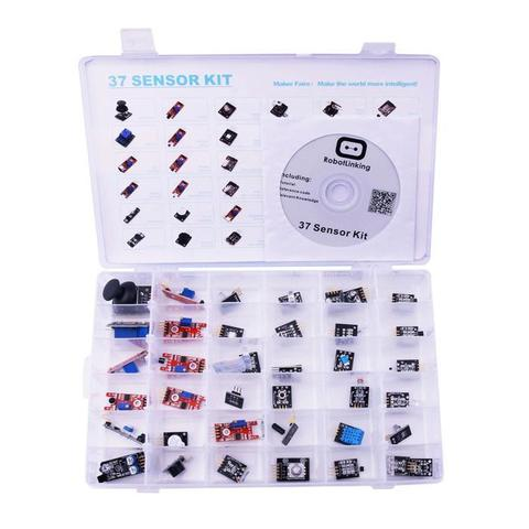 Набор датчиков Arduino Sensor Kit 37 в 1 в пластиковом кейсе