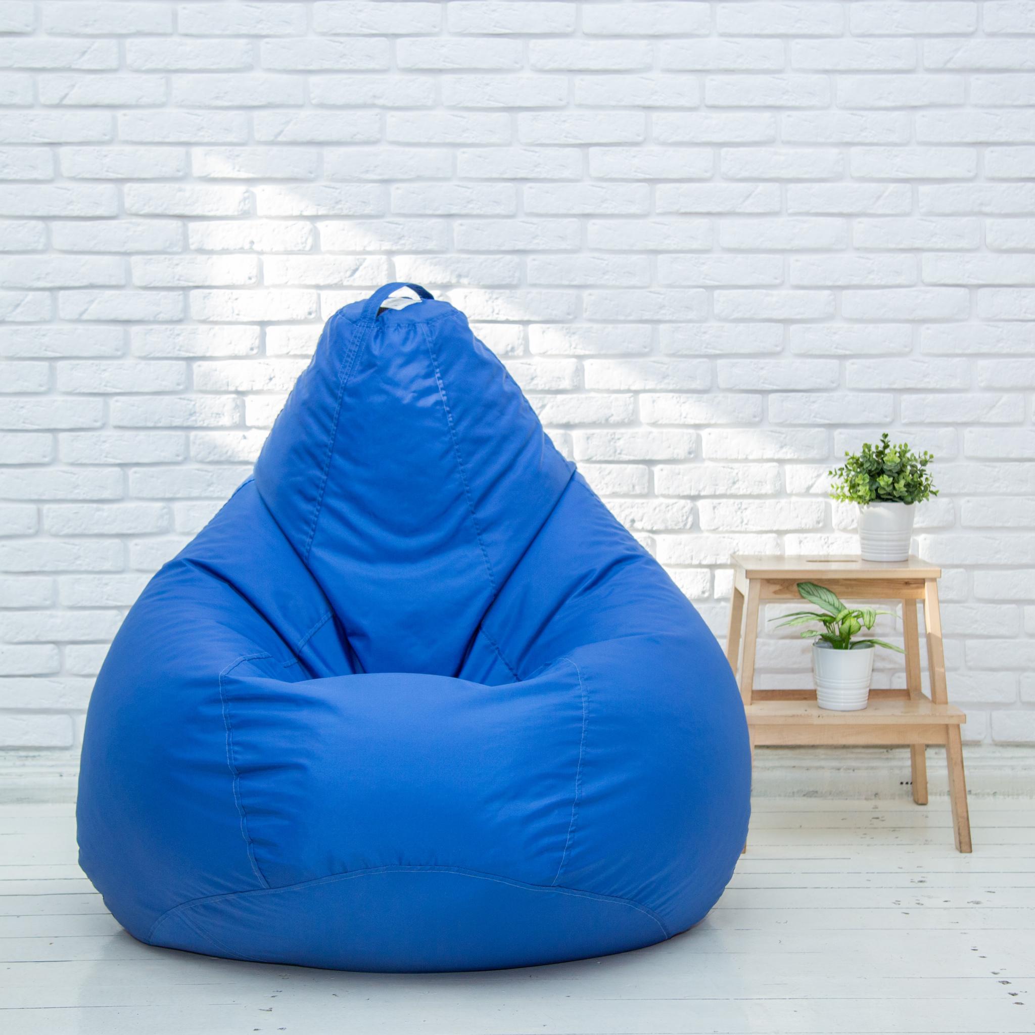Груша XL плащёвка, несъёмный чехол (синяя)