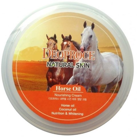 DEOPROCE NATURAL SKIN Крем для лица и тела на основе лошадиного жира DEOPROCE NATURAL SKIN HORSE OIL NOURISHING CREAM 100g 100гр
