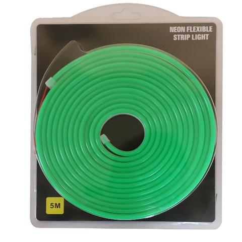 Гибкий неон Зеленый, 5х12 мм, SMD2835/120, 12 Вольт, Силикон