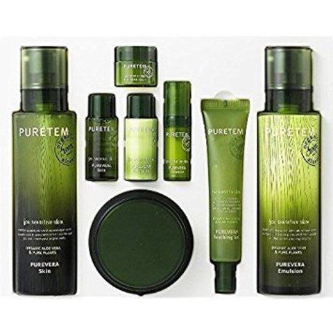 WELCOS Puretem Набор с экстрактом алоэ вера Puretem Purevera 3 Items Set